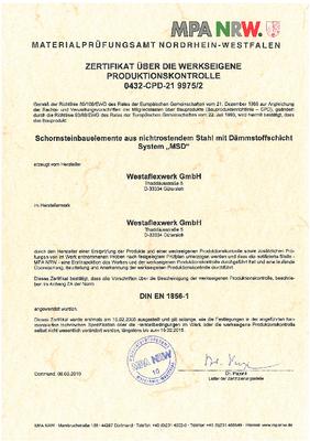 EG-Konformitätserklärung / CE-Kennzichnung für System MSD