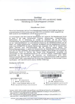 RFID Datamatrik Unikate