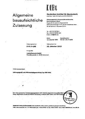 Zulassung Z-51.3-195